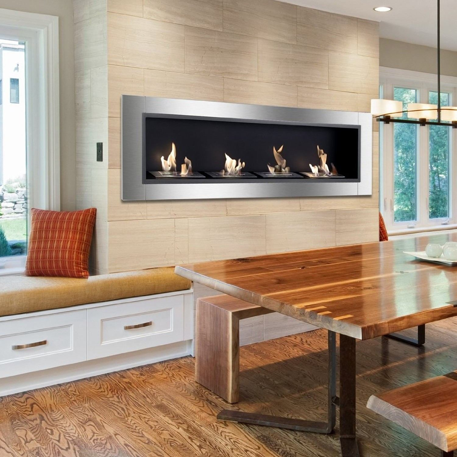 sideline recessed touchstone products electric fireplace the