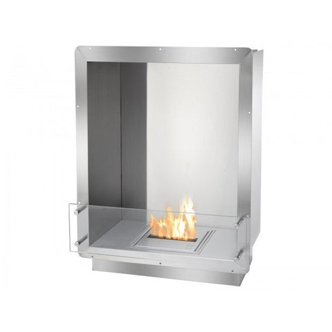 "Ignis 28"" Wide One-Sided Ethanol Burning Firebox - Ethanol Fireplace Pros"