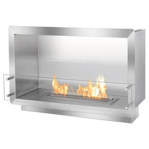 "Ignis 39.5"" Wide One-Sided Ethanol Burning Firebox - Ethanol Fireplace Pros"