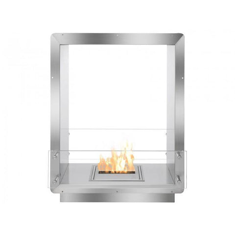 "Ignis 28"" Wide Double-Sided Ethanol Burning Firebox - Ethanol Fireplace Pros"
