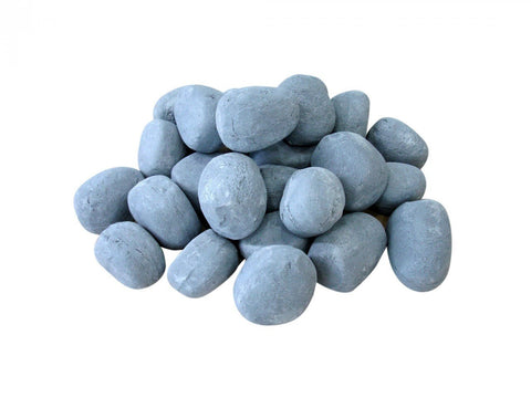 Grey Ceramic Fireplace Pebble Set - 24pcs - Ethanol Fireplace Pros