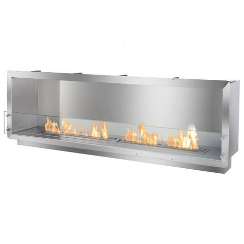 "Ignis 78.5"" Wide One-Sided Ethanol Burning Firebox - Ethanol Fireplace Pros"