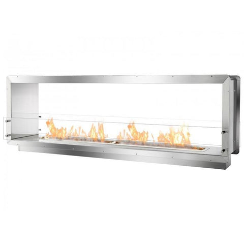 "Ignis 78.5"" Wide Double-Sided Ethanol Burning Firebox - Ethanol Fireplace Pros"