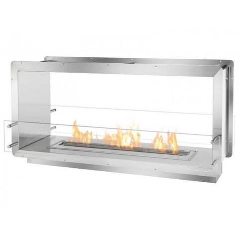 "Ignis 52"" Wide Double-Sided Ethanol Burning Firebox - Ethanol Fireplace Pros"
