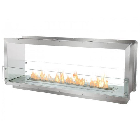 "Ignis 64.25"" Wide Double-Sided Ethanol Burning Firebox - Ethanol Fireplace Pros"