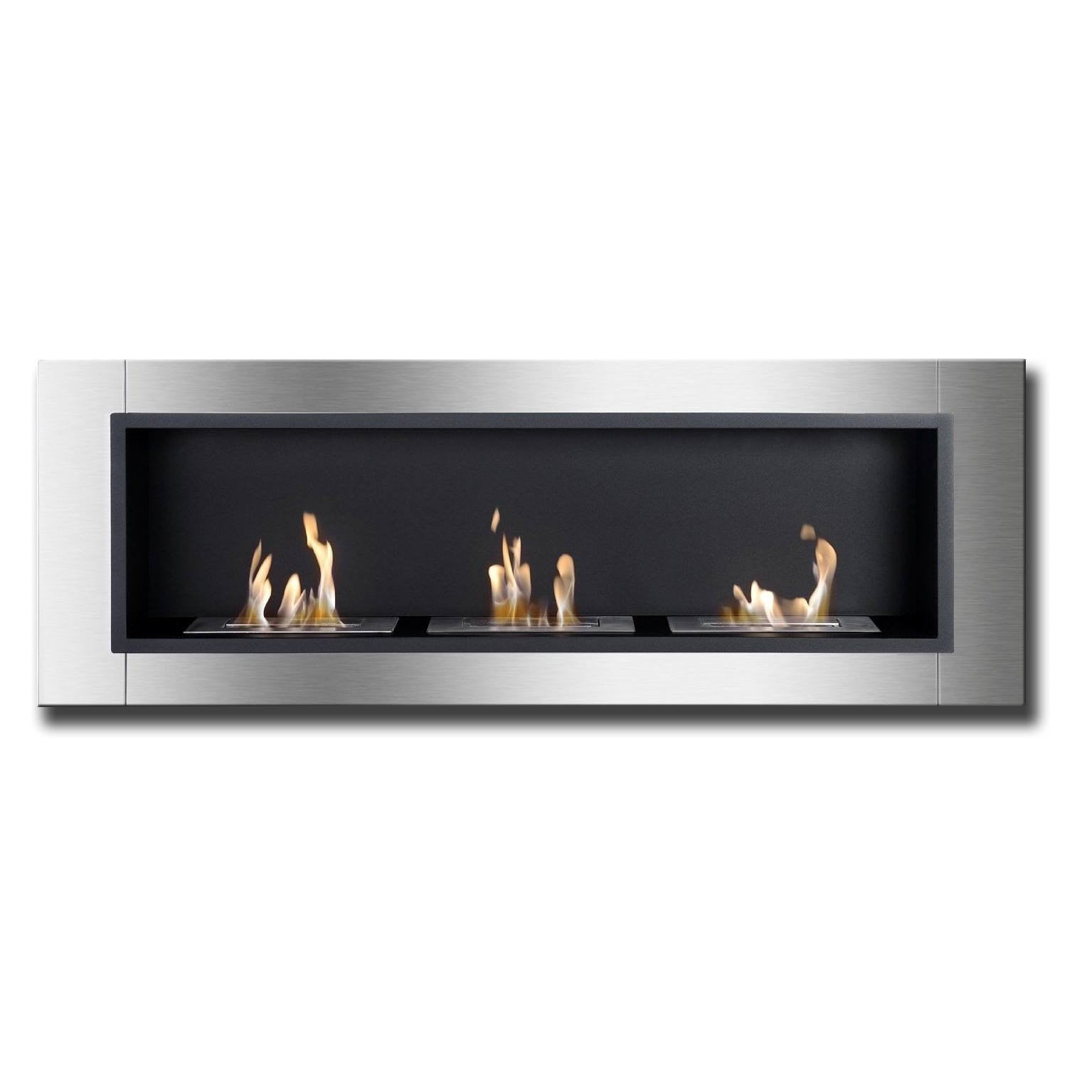 Free Shipping and No Sales Tax on the Ignis Ardella Bio Ethanol Recessed Wall Fireplace on Ethanol Fireplace Pros