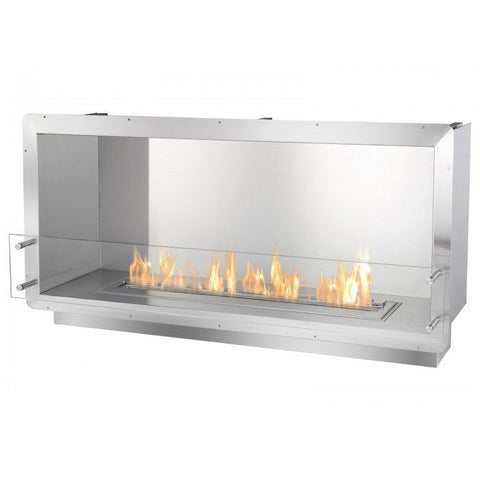"Ignis 52"" Wide One-Sided Ethanol Burning Firebox - Ethanol Fireplace Pros"