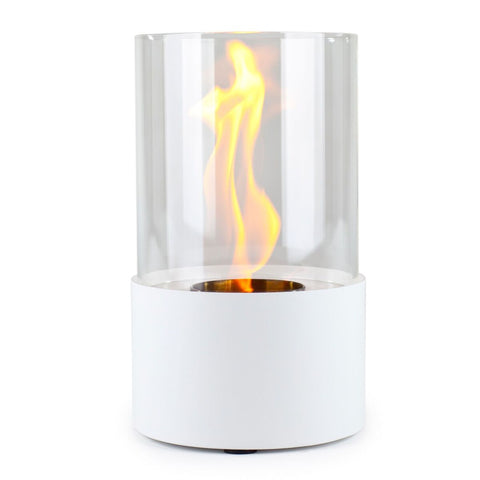 Piccolo Blanco Accenda Table Top Fireplace - Ethanol Fireplace Pros