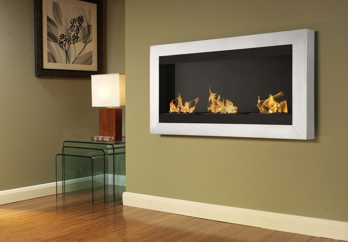 ignis optimum wall watch youtube ethanol by fireplace mounted