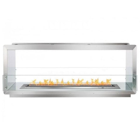 "Ignis 64.25"" Wide Double-Sided Ethanol Burning Smart Firebox - Ethanol Fireplace Pros"