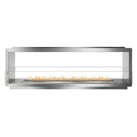 "Ignis 78.5"" Wide Double-Sided Ethanol Burning Smart Firebox - Ethanol Fireplace Pros"