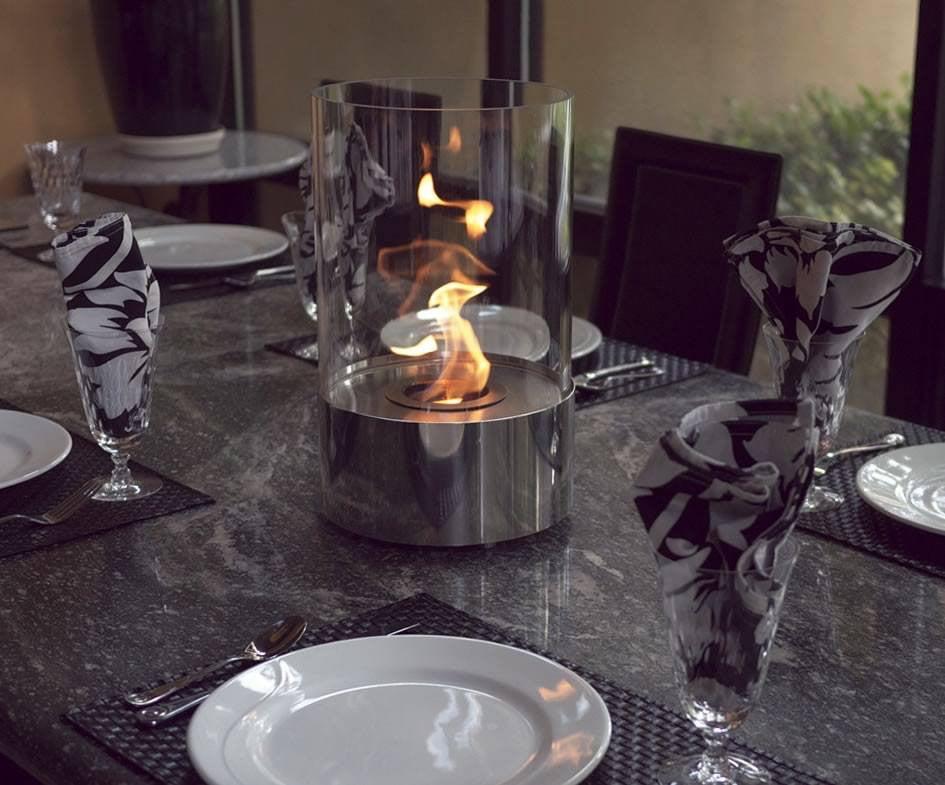nuflame accenda cylinder tabletop fireplace ethanol fireplace pros