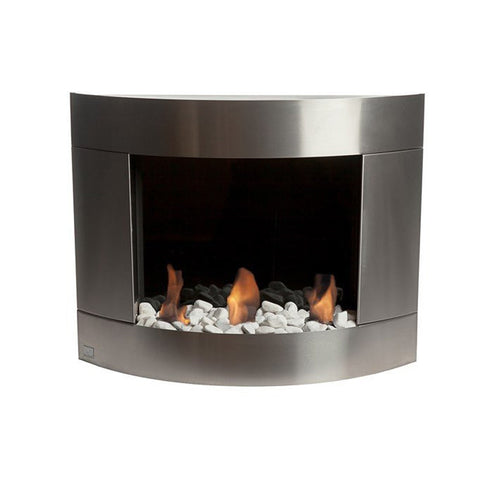 Bio-Blaze Diamond 1 Stainless Steel Bio-Ethanol Wall Fireplace  - Wall Fireplaces - Ethanol Fireplace Pros
