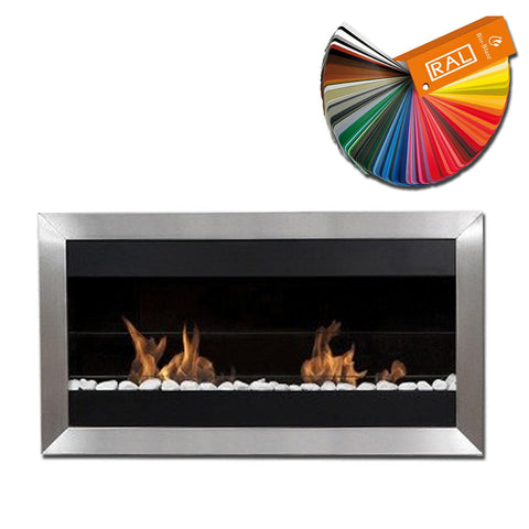 Bio-Blaze Square Large 2 Bio-Ethanol Fireplace - Wall Fireplaces - Ethanol Fireplace Pros