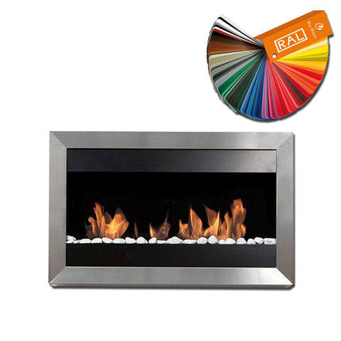 Bio-Blaze Square Small 1 Stainless Steel Bio-Ethanol Fireplace - Wall Fireplaces - Ethanol Fireplace Pros