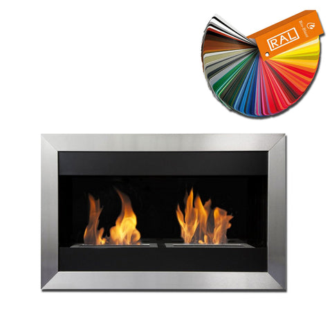 Bio-Blaze Square Small 2 Bio-Ethanol Fireplace - Wall Fireplaces - Ethanol Fireplace Pros
