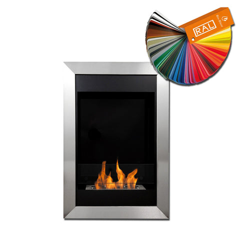 Bio-Blaze Square Vertical Biofuel Wall Fireplace  Wall Fireplaces - Ethanol Fireplace Pros