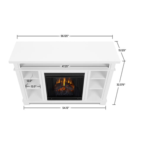 Belford Electric Fireplace in White - Ethanol Fireplace Pros