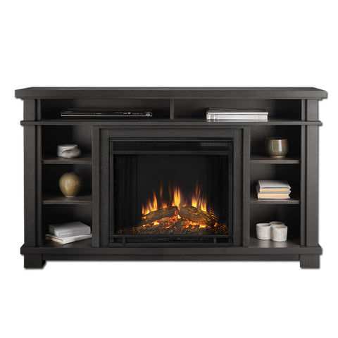 Belford Electric Fireplace in Gray - Ethanol Fireplace Pros
