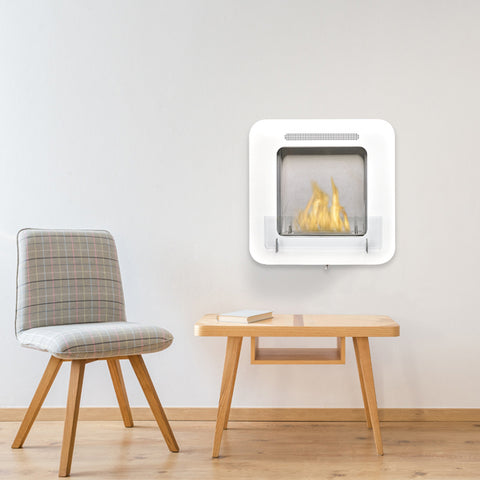 Cosy Biofuel Fireplace in White - Ethanol Fireplace Pros