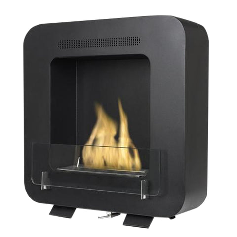 Cosy Biofuel Fireplace in Matte Black