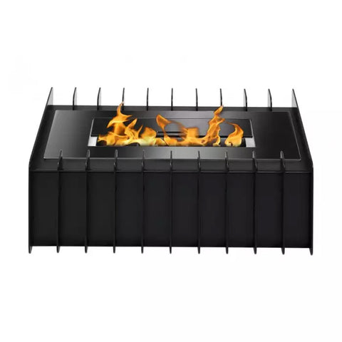 Ignis EBG1200 Fireplace Grate in Black - Ethanol Fireplace Pros