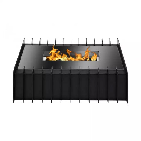 Ignis EBG1400 Fireplace Grate in Black  - Ethanol Fireplace Pros