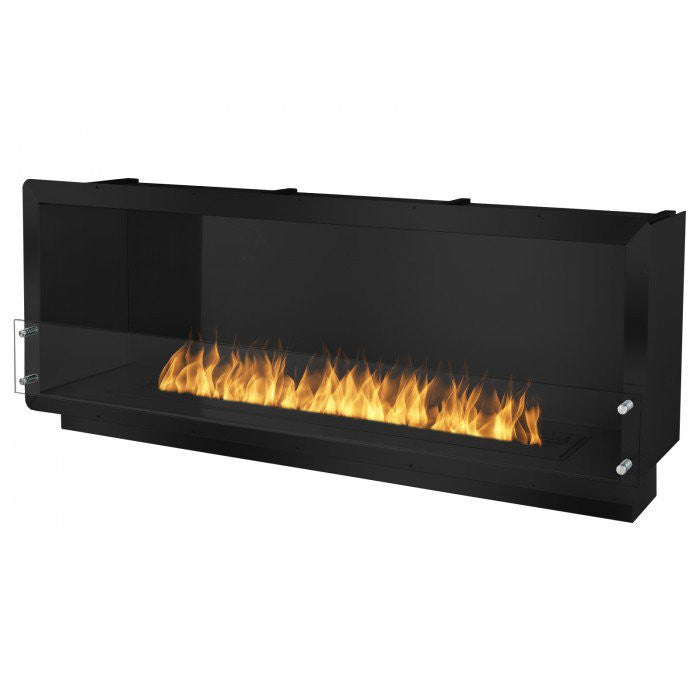 """Free Shipping and No Sales Tax on the Ignis 64.25"""" Wide One-Sided Ethanol Burning Firebox in Black from the Ethanol Fireplace Pros."""