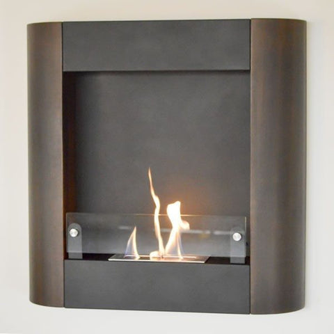 Nu Flame Focolare Muro Noce Wall Mounted Ethanol Fireplace - Ethanol Fireplace Pros