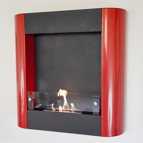 Nu Flame Focolare Muro Rosso Wall Mounted Ethanol Fireplace - Ethanol Fireplace Pros