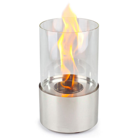 Piccolo Stainless Accenda Table Top Fireplace - Ethanol Fireplace Pros