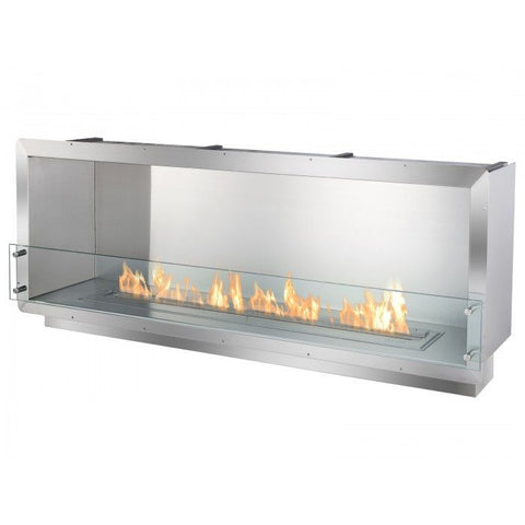 "Ignis 64.25"" Wide One-Sided Ethanol Burning Firebox - Ethanol Fireplace Pros"