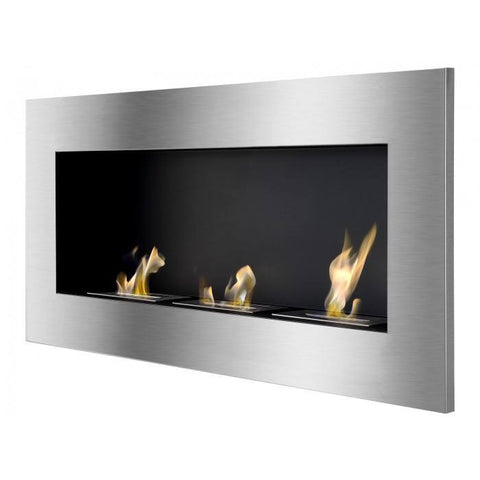 Ignis Optimum Recessed or Wall Mount Bio Ethanol Fireplace - Ethanol Fireplace Pros