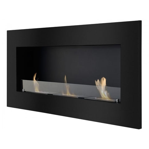 Ignis Optimum Black Recessed  Bio Ethanol Fireplace - Ethanol Fireplace Pros