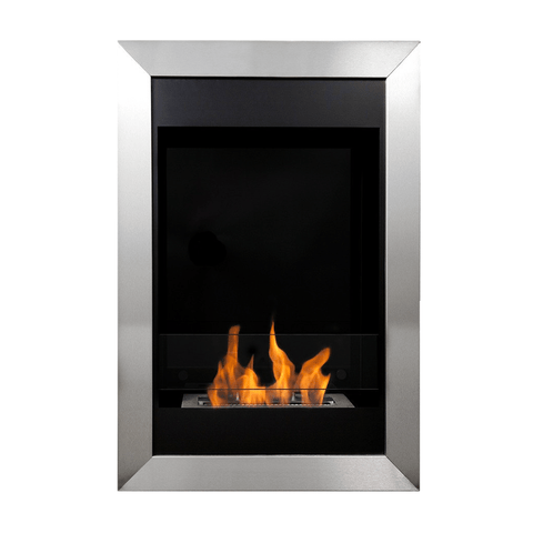 Bio-Blaze Square Vertical Biofuel Wall Fireplace - Ethanol Fireplace Pros