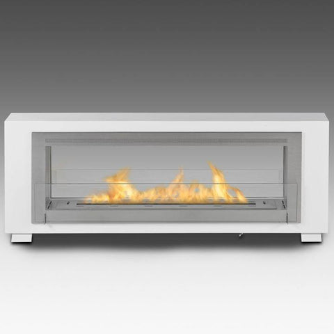 Eco-Feu Santa Cruz 2-Sided Biofuel Fireplace - Ethanol Fireplace Pros