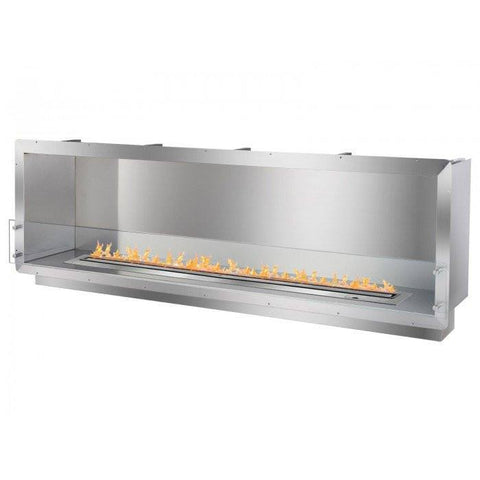 "Ignis 78.5"" Wide One-Sided Ethanol Burning Smart Firebox - Ethanol Fireplace Pros"