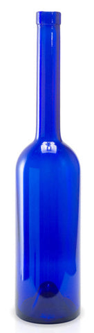 Opera Cobalt Blue glass bottle - perfect for your bottle tree