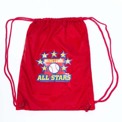 Hometown All Stars Canvas Draw String Bag Red
