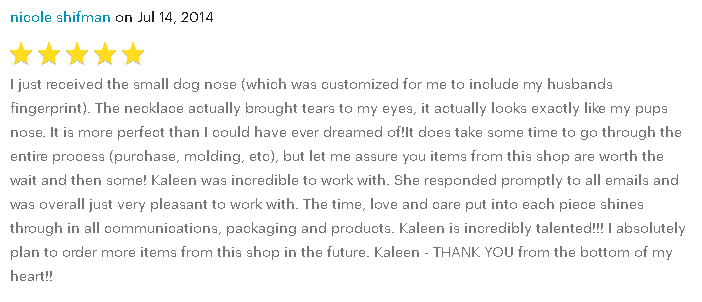 Kaleen Wolfe Designs Review 7