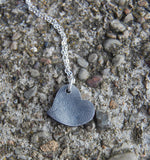Your Own Custom Silver Fingerprint Heart