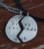 Best Friends Forever Custom Fingerprint Necklaces - TWO Personalized Necklaces