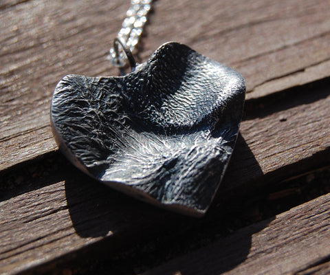 Puppy Love - Custom Single Paw Pad Necklace - Includes Sterling Silver Cable Chain