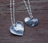 Custom Small Heart Fingerprint Necklace