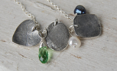 Custom Chunky & Funky Fingerprint Necklace