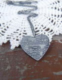 Customized Silver Sheet Music Necklace with Rolo Chain - You Name That Song