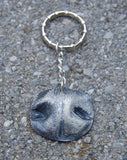 LARGE Custom Silver Dog Nose Print Necklace - Sterling Rolo Chain - Personalized to Your Pet