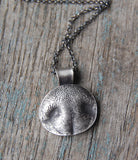 SMALL Silver Dog or Cat Nose Print - Customized for Your Pet with a Sterling Silver Chain