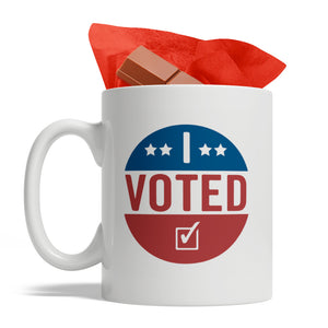 I Voted - Ceramic Coffee Mug, 11-Ounce, White, Made in USA, Limited Edition