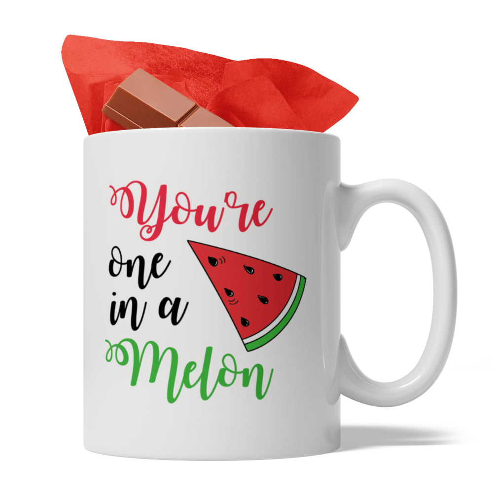 You are one in a melon , Ceramic Coffee Mug, 11-Ounce White